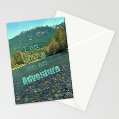 I Am Going On An Adventure  Stationery Cards