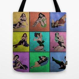 Pop Pin-Up Girls Tote Bag