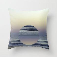 Ocean Sunrise Remix Throw Pillow