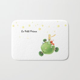 The Little Prince, with the fox and planet Bath Mat