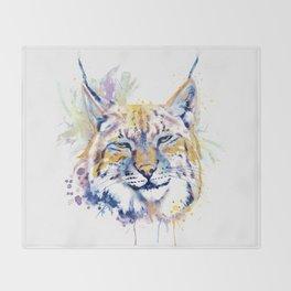 Bobcat Head Throw Blanket