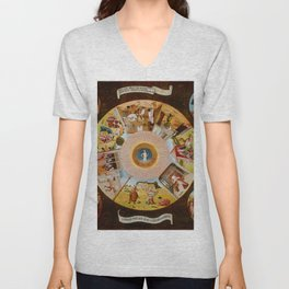 "Hieronymus Bosch ""The Seven Deadly Sins and the Four Last Things"" Unisex V-Neck"