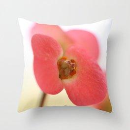 Euphorbia milii Throw Pillow