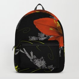 Lily and Gladiolas abstract Backpack