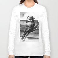 sparrow Long Sleeve T-shirts featuring Sparrow by Chuchuligoff