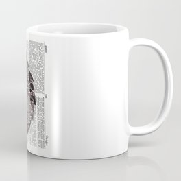 Here Be Dragons  (dragon and d20 dice on dictionary page) Coffee Mug