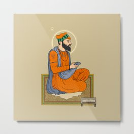 Sri Guru Angad Dev Ji Metal Print