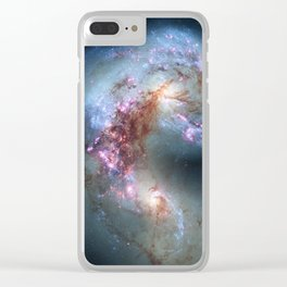 Interacting galaxies Clear iPhone Case