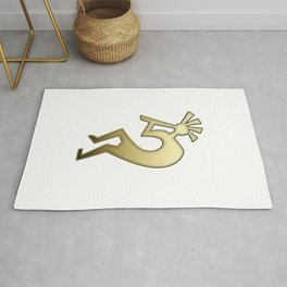 Kokopello Golden Fluteplayer Symbol of South Western America Rug