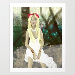 Blonde Girl in Brazil  Art Print