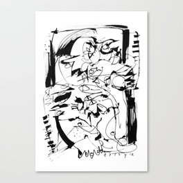 Ups and Downs - b&w Canvas Print