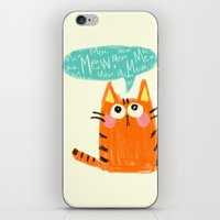 mew iPhone & iPod Skins featuring mew. by TangerineCafé