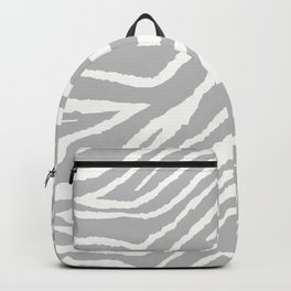ZEBRA 2 GRAY AND WHITE ANIMAL PRINT Backpack