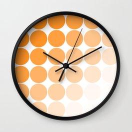 Orange Circle Color Charts Wall Clock