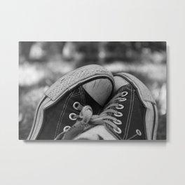 Sneakers in the Park Metal Print