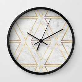 gOld rhombus Wall Clock