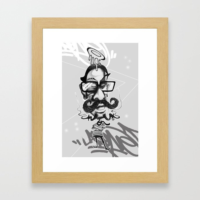 All Hipsters Are Created Equal Framed Art Print
