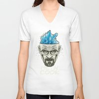 heisenberg V-neck T-shirts featuring Heisenberg by Maioriz Home