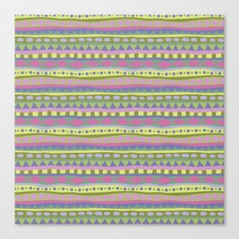 Stripey-Fairytale Colors Canvas Print