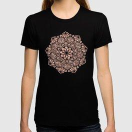 Mandala Seashell Rose Gold Coral Pink T-shirt