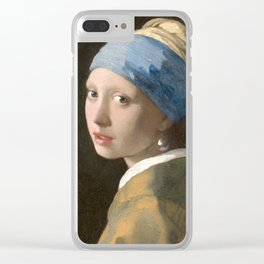 Johannes Vermeer - Girl with the pearl earring (1665) Clear iPhone Case