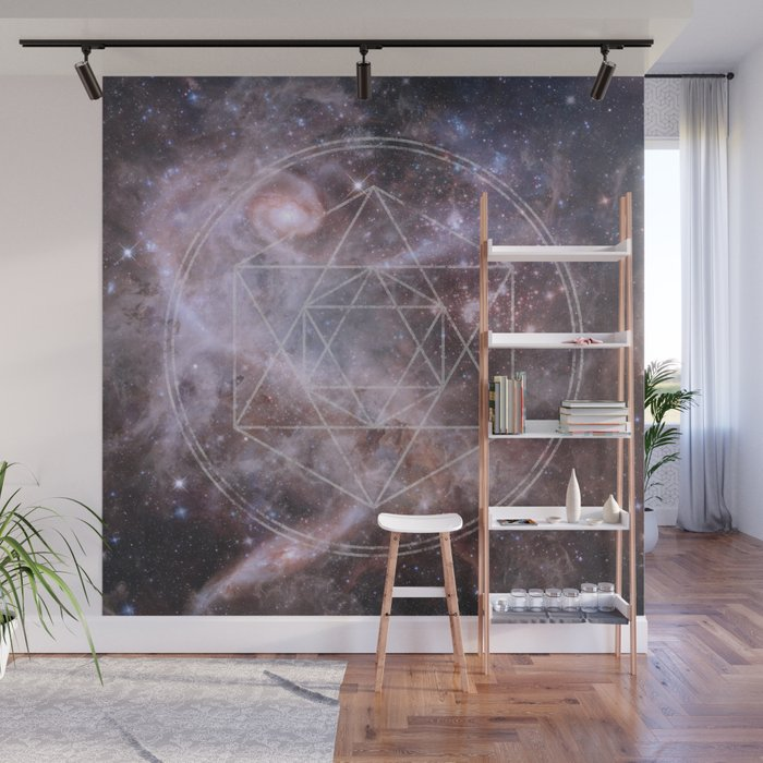 Sacred Geometry Universe Wall Mural By Gaudy Society6
