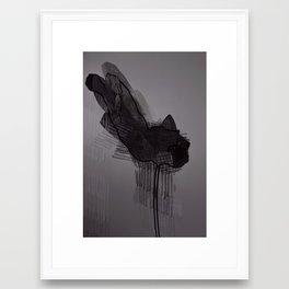 leaf eight Framed Art Print