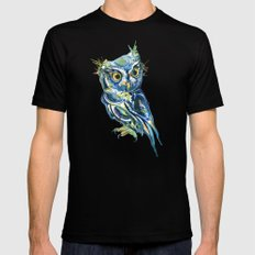 Blue Owl MEDIUM Black Mens Fitted Tee