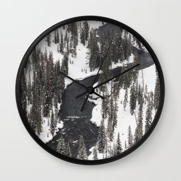 Yellowstone National Park - Lewis River Wall Clock