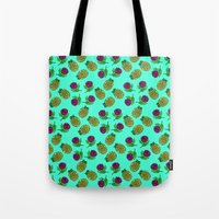 portugal Tote Bags featuring Azores, Portugal by Golden Heart