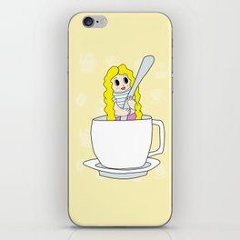 Biondina at coffee time iPhone Skin