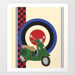 Scooter and mod symbols. Art Print