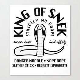 King Of Snek Funny Motorcycle Biker Style Snake Canvas Print