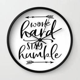 Work Hard Stay Humble,Play Hard,Motivational Poster,Be Kind,Home Office Desk,Printable Wall Art,Typo Wall Clock