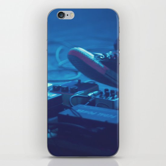 Stompboxes (Indie rock music concert, Stumping on effects pedals) iPhone & iPod Skin