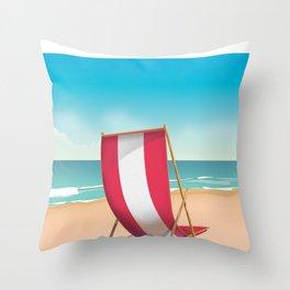Sidmouth, devon, vintage travel poster Throw Pillow