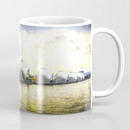 The Thames Barrier London Art Coffee Mug