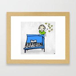 piano of love Framed Art Print