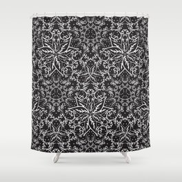 B&W decorative pattern Shower Curtain