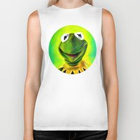 muppets Biker Tanks featuring The Muppets- Kermit the Frog by Kristin Frenzel