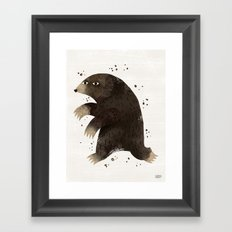 Keep Digging Framed Art Print
