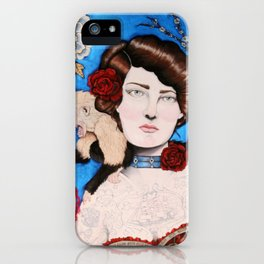 Augusta -- The Tattooed Lady iPhone Case