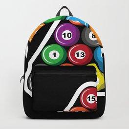Billiards Pool Hall Sport Balls T-Shirts Backpack