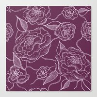 floral pattern Canvas Prints featuring Floral Pattern by Vickn