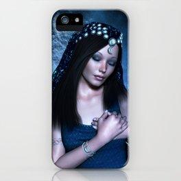 Praying Moon Goddess iPhone Case