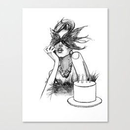 Birthday girl fashion illustration Canvas Print