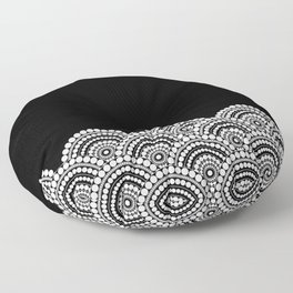 BLACK AND WHITE (abstract pattern) Floor Pillow