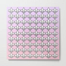 Fleur De Lis....Purple,pink Metal Print