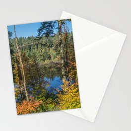Lake in French forest Stationery Cards