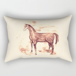 Horse sepia illustration Rectangular Pillow